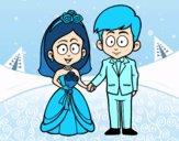 Dibujo Vivan la novia y el novio. pintado por dionilka