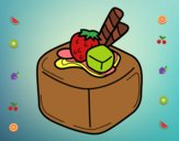 Dibujo Bombón de fruta pintado por nuri17