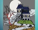 Dibujo Casa encantada pintado por mucho