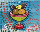 Copa con tres bolas de helado