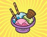 Dibujo Copa de helado pintado por nuri17