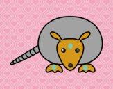 Dibujo Cría de armadillo pintado por dandanhooo