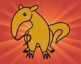 Dibujo Cría de oso hormiguero pintado por dandanhooo
