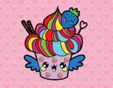 Dibujo Cupcake kawaii con fresa pintado por nuri17