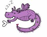Dragón infantil durmiendo