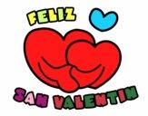 Dibujo Feliz San Valentin pintado por fakita