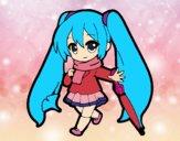 Dibujo Hatsune Miku pintado por sofitax08