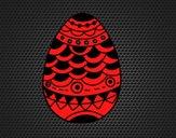 Dibujo Huevo de Pascua estilo japonés pintado por amalia