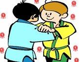 Dibujo Judo amistoso pintado por fakita