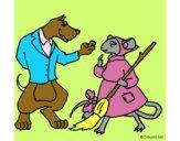 Dibujo La ratita presumida 11 pintado por melanysrr