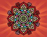 Dibujo Mandala para la concentración mental pintado por graciela57
