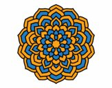Mandala pétalos de flor