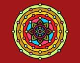 Dibujo Mandala sistema solar pintado por Rachelr88