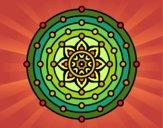 Dibujo Mandala sistema solar pintado por Cozti