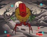 Monstruo alien arácnido