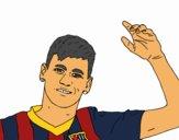 Neymar saludando