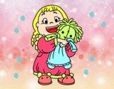 Dibujo Niña con su muñeca pintado por maleja1101