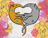 Dibujo Osos hormigueros enamorados pintado por dandanhooo