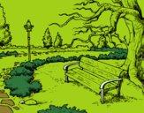 Dibujo Paisaje de parque pintado por esthefani2