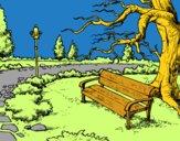 Dibujo Paisaje de parque pintado por camilaine