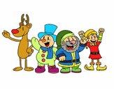 Dibujo Santa Claus y sus amigos pintado por fakita