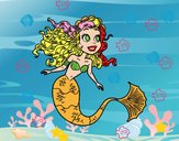 Dibujo Sirena manga pintado por chryss