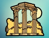 Dibujo Templo de Zeus Olímpico pintado por mucho