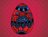 Dibujo Un huevo de Pascua floral pintado por amalia