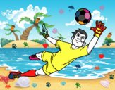 Un portero de fútbol