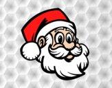 Dibujo Un Rostro de Papá Noel pintado por danielalo