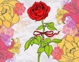 Dibujo Una rosa pintado por amista