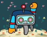 Androide saludando