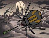 Dibujo Araña expulsando veneno pintado por carlitoslo