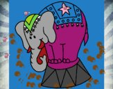 Elefante actuando