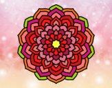 Dibujo Mandala pétalos de flor pintado por Cozti