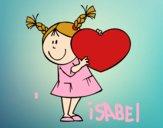Niña con corazón