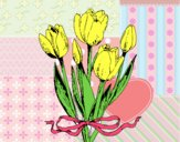 Dibujo Tulipanes con lazo pintado por KAIRELYN