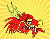 Dibujo Cabeza de dragón rojo pintado por carlos01