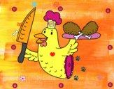 Dibujo Carne de pollo pintado por nido