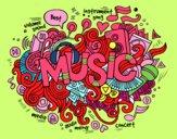 Dibujo Collage musical pintado por merche8887