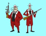 Dibujo Gangsters pintado por orlandojos