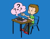 Dibujo Preguntas de colegio pintado por Axelale
