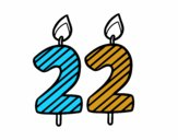 22 años