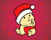Dibujo Bebé con Gorro de Santa Claus pintado por isaias55