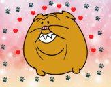 Bulldog sonriendo