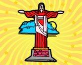 Dibujo Cristo Redentor pintado por martanoemi
