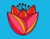 Dibujo Flor de tulipán pintado por olgablanco