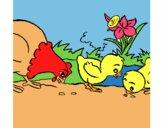 Gallina y pollitos