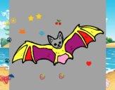 Dibujo Murciélago volando pintado por lapame