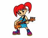 Niña con guitarra eléctrica